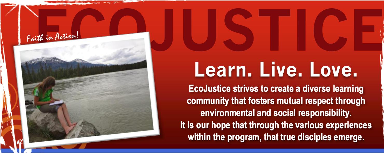 EcoJustice image - learn. live, love